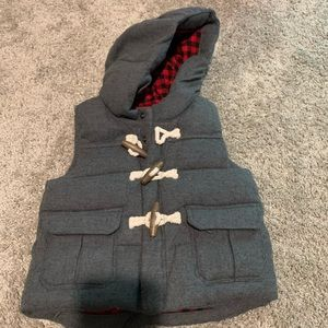 Baby Gap grey toggle vest with hood